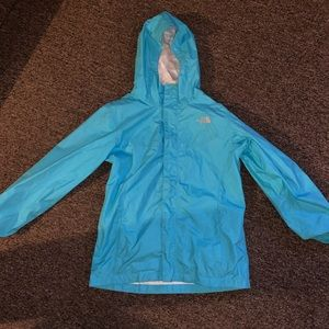 Light Blue North Face Raincoat